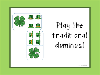 St. Patrick's Day domino addition