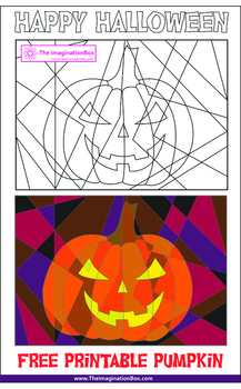 Free Halloween Spooky 'Hidden' Abstract Pumpkin Art Activity
