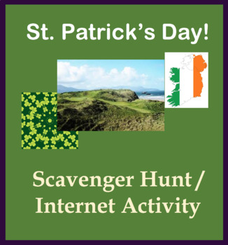 St. Patrick's Day fun activity - Scavenger Hunt Internet Activity