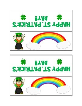 St. Patrick's Day gift tag