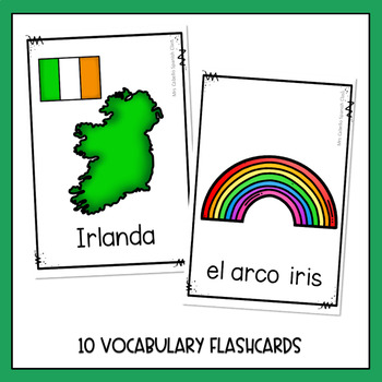 St Patrick's Day in Spanish Flashcards - Dia de San Patricio