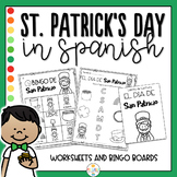St Patrick's Day in Spanish Worksheets and Bingo - Dia de San Patricio