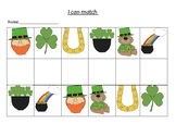 St Patrick's Day- matching activity