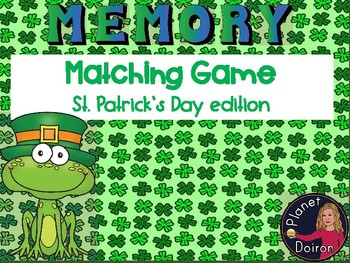 St. Patrick's Day memory matching game