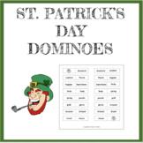 St. Patrick's Day printable dominoes game