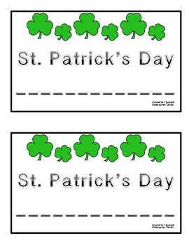 St. Patrick's Day shared reading/book