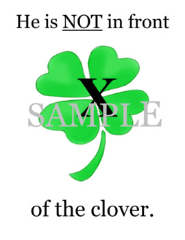 St. Patrick's Day story with prepositions for students to read, draw & re-create