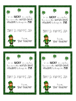 St. Patrick's Day student notes