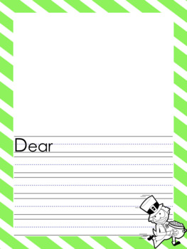 St. Patrick's Day themed Memo and Letter Writing Papers