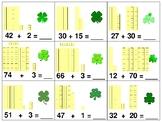 St. Patrick's Day themed Shamrocks Tens & Ones Game