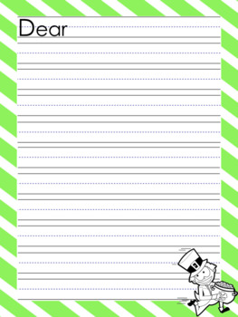 St. Patrick's Day themed writing papers, lists, and cards