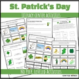 St. Patrick's Day vocabulary WORD WORK Differentiated AUTISM Literacy Center