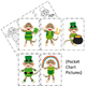 St. Patrick's Day  with Sock Monkey Interactive Emergent Reader Sight Word GOOD