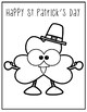 St.Patrick's Days Coloring sheets