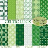 St Patrick's Digital Papers / Irish Backgrounds / St Patri