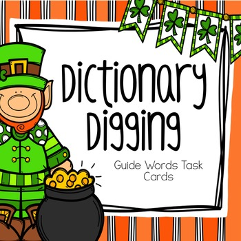 St. Patrick's Guide Words Task Cards