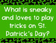 St. Patrick's Hundred Chart Mystery Picture 10 more 10 less 1 more 1 less