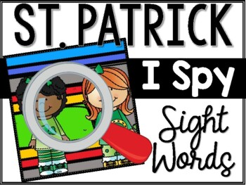 St. Patrick's I Spy Sight Words