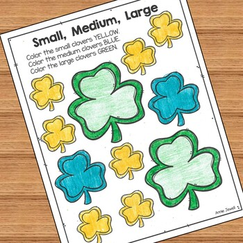 St. Patrick's Kindergarten Math Activities and Worksheets for the Common Core