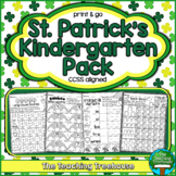 St. Patrick's Kindergarten Pack, No Prep, CCSS Aligned