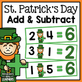 St. Patrick's Leprechaun Addition and Subtraction Game