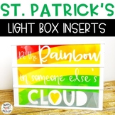 St. Patrick's Light Box Inserts- Heidi Swapp or Leisure Arts