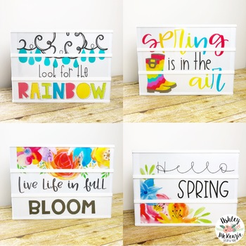 Spring Light Box Inserts- Heidi Swapp or Leisure Arts