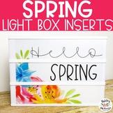 Spring Light Box Inserts- Heidi Swapp or Leisure Arts