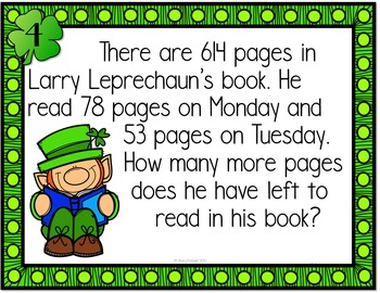 St. Patrick's Math Addition and Subtraction Edition