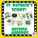 St. Patrick's Math Center Missing Addends Addition Facts Sums to 10