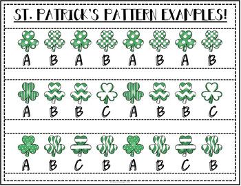 St. Patrick's Math Patterns Edition Freebie