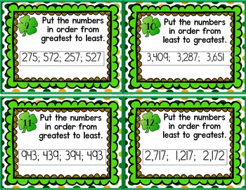 St. Patrick's Math ~ Place Value Edition