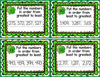 St. Patrick's Math Place Value Edition