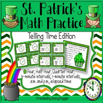 St. Patrick's Math ~ Telling Time Edition