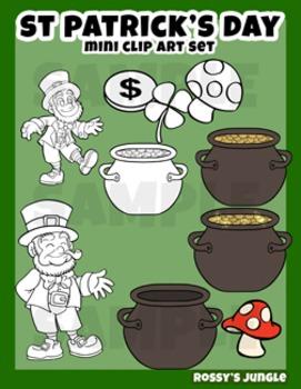 St. Patrick's Mini clip art set - Leprechauns
