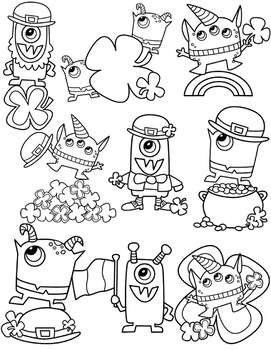 St. Patrick's Monsters Clipart