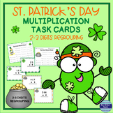 St. Patrick's Multiplication Task Cards Sets C and D