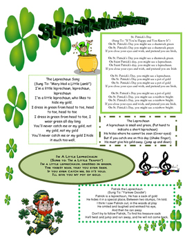 St. Patrick's Music Camp Hand Out