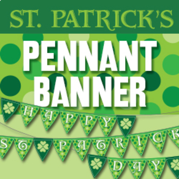 St. Patrick's Pennant Banner