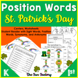 Positional Words Activities and Worksheets for St. Patrick's Day