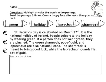 St. Patrick's Reading Comprehension
