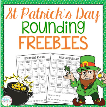 St. Patrick's Day Rounding Worksheet FREE