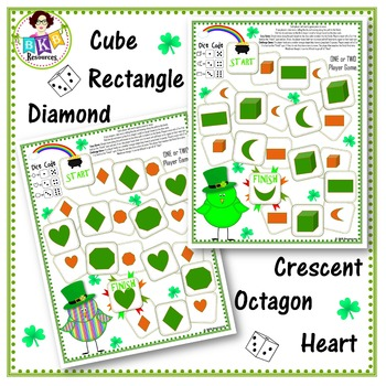 St. Patrick's Shape Game Boards