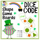 Shape Game ● St. Patrick's Shape Game Boards ● Math Center