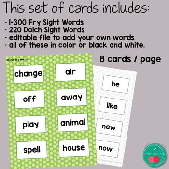 St Patrick's Day Sight Words
