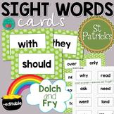St Patrick's Day Sight Words