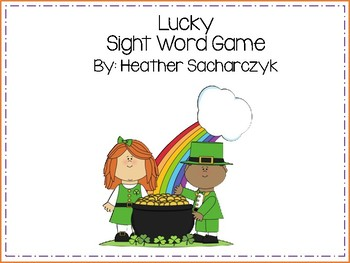 St. Patrick's Sightword Board Game