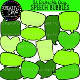 St. Patrick's Speech Bubbles: St. Patrick's Day Clipart {C