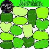 St. Patrick's Speech Bubbles: St. Patrick's Day Clipart {C