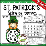 St. Patrick's Spinner Games - Math & Literacy, Pre-K Preschool